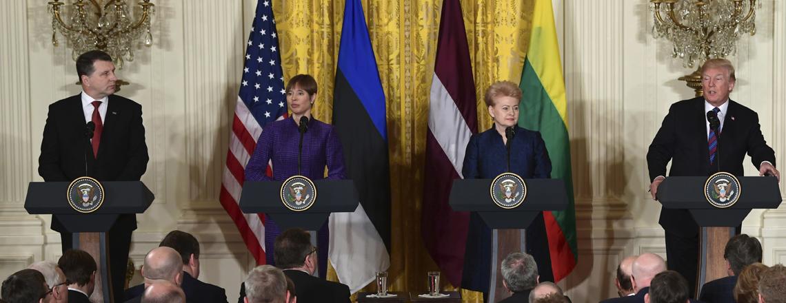 President Donald J. Trumpi toetus Eestile, Lätile ja Leedule