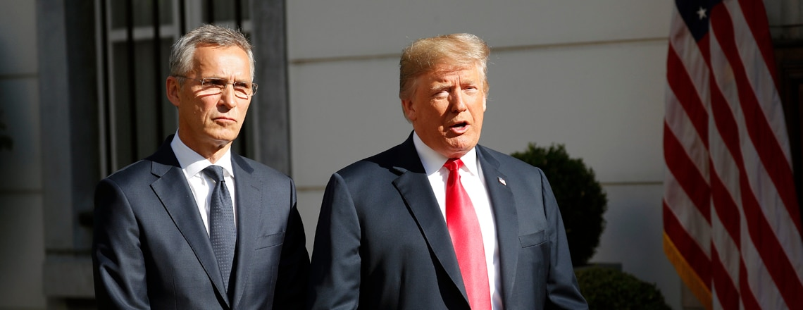 Remarks by President Trump and NATO Secretary General Stoltenberg at Bilateral Breakfast